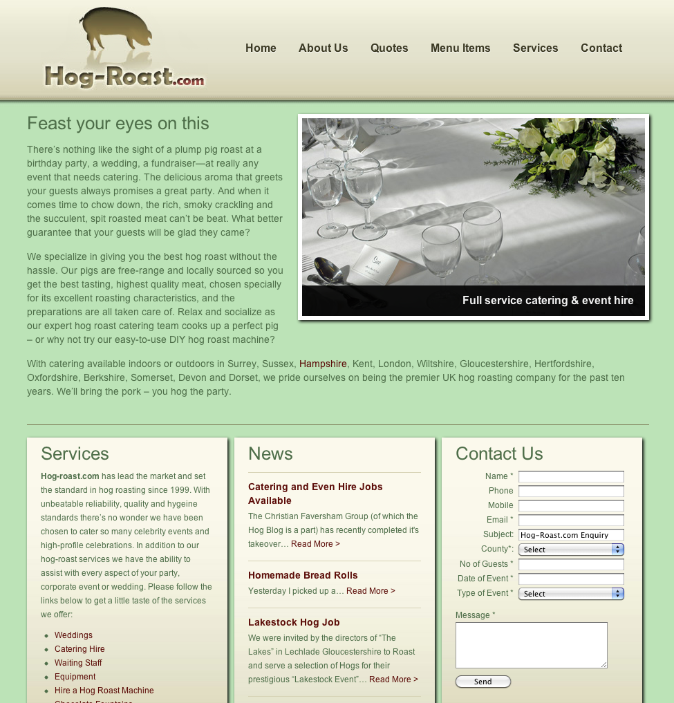 hog roast website