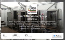 ESG Event Hire on Twitter